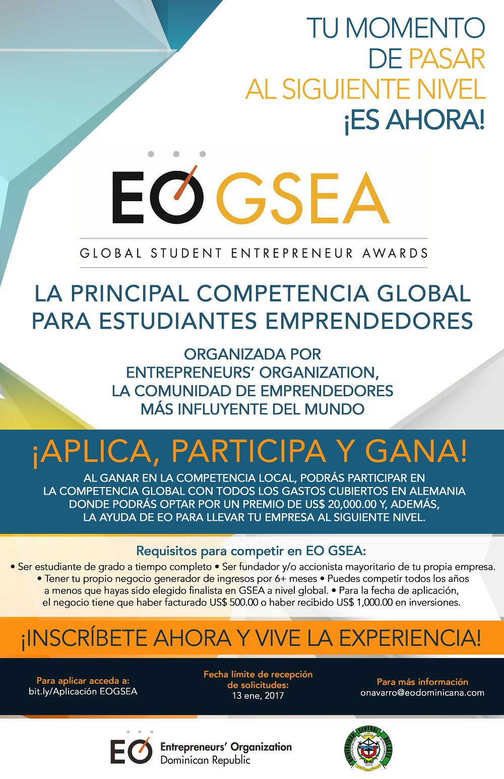 ¡PARTICIPA! En Global Student Entrepreneur Awards (GSEA).